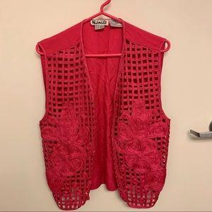 🌺 Hot Pink Vintage Vest 🌺